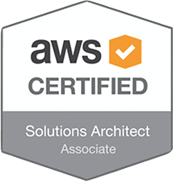 AWS certified Solutions Architect - Associate badge